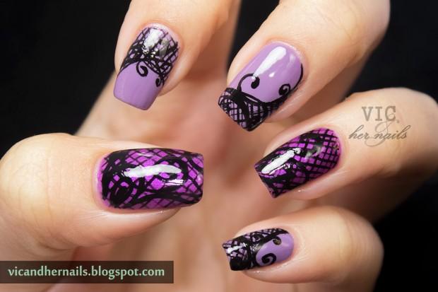 Mẫu nail màu tím tuyệt đẹp cho bạn gái lãng mạn ngọt ngào ngày hè