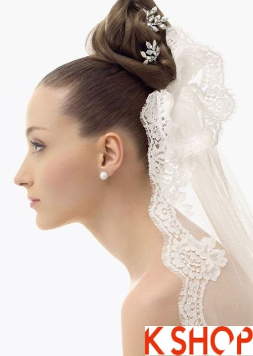 4 kiểu tóc cô dâu duyên dáng ngày cưới 2017
