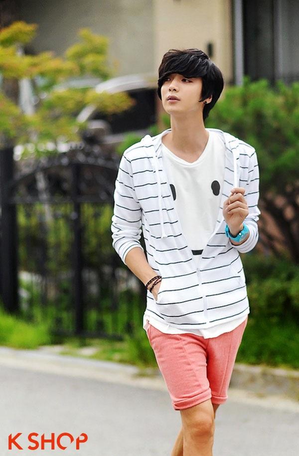 Áo phông nam dài tay kẻ sọc đẹp năng động cho chàng xuống phố