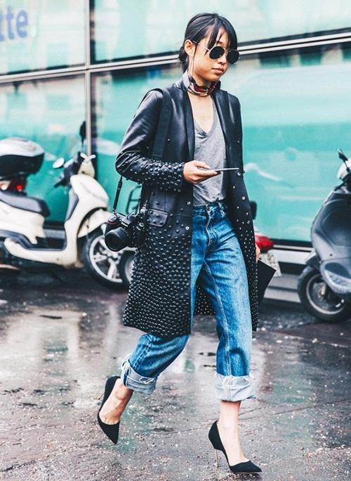 Đừng tốn công cắt ống đi xắn gấu quần jeans thế này mới chất