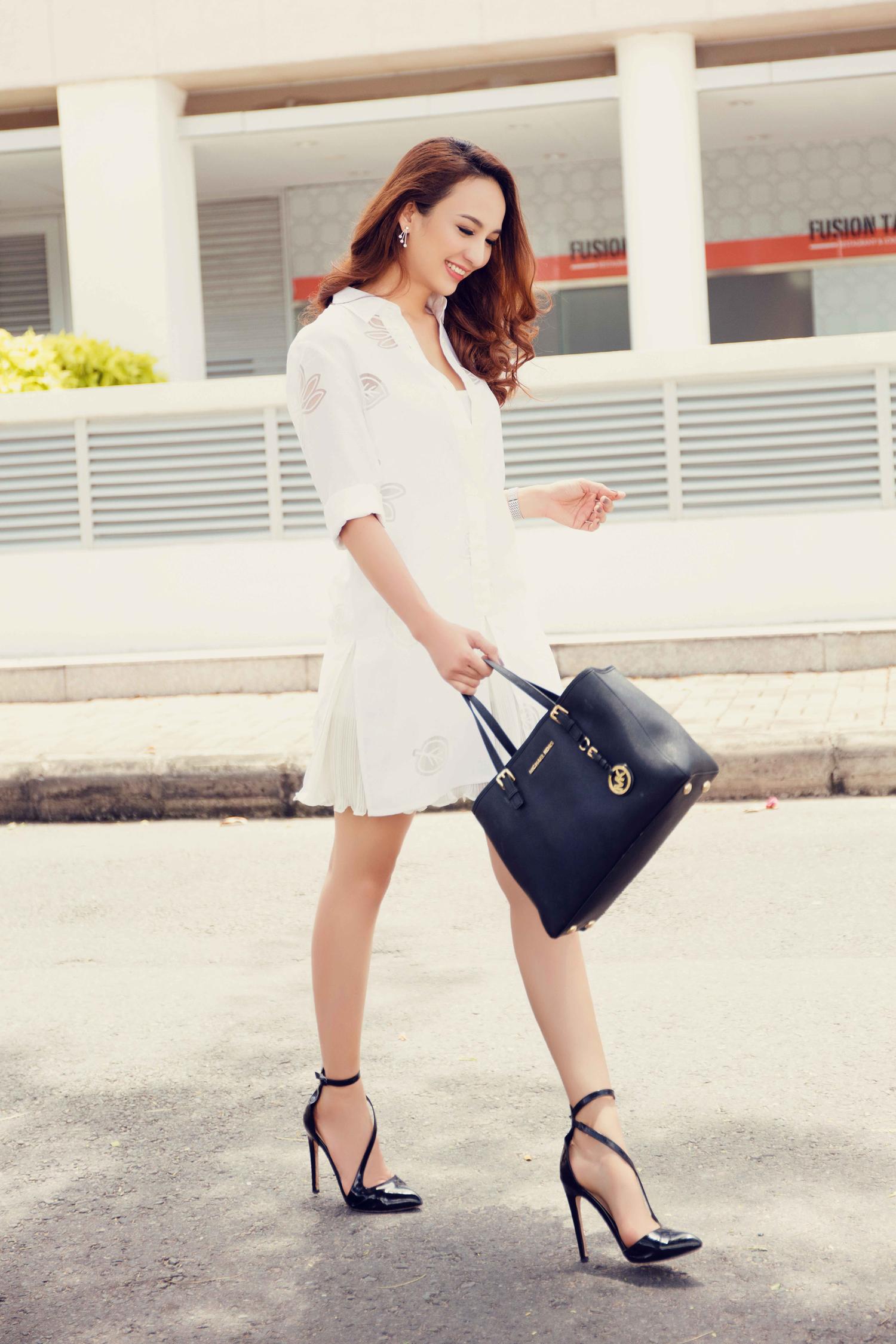 Hoa hậu ngọc diễm gợi ý 7 trang phục cho mùa thu