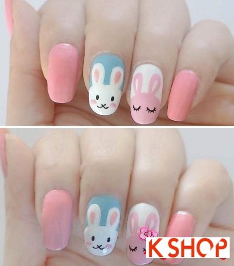 Vẽ nail hình con thỏ đẹp cho cô nàng dễ thương nhất hè 2017