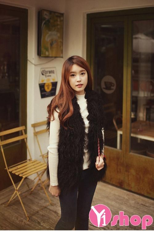 Áo khoác lông nữ dáng ngắn đẹp cho nàng ấm áp ngày lạnh