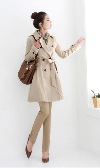 Áo khoác măng tô nữ dáng dài đẹp công sở không lạnh đông 2016 2017