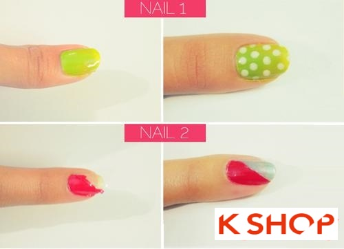 Cách sơn móng tay màu neon đơn giản tại nhà cho bạn nữ
