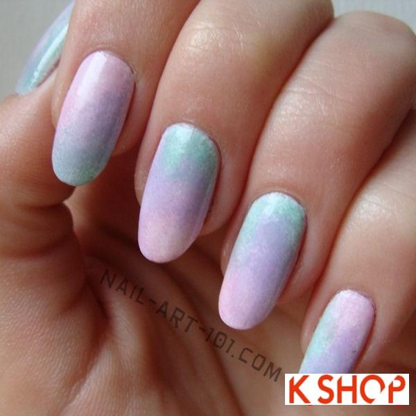 Mẫu móng tay màu pastel cực dễ thương cho nàng