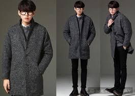 Mix áo khoác nam dạ dáng dài phong cách như sao hàn
