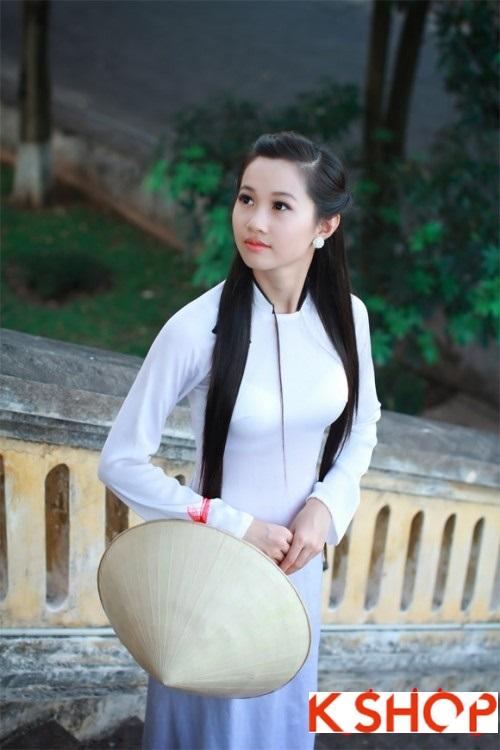 Những kiểu tóc nữ phù hợp với bạn gái mặc áo dài duyên dáng