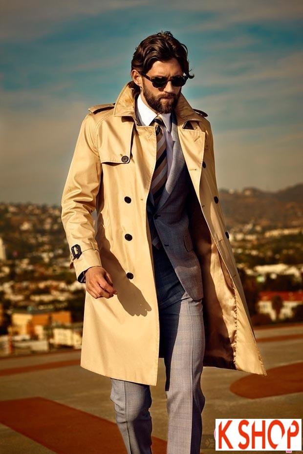 Áo khoác dạ măng tô nam trench coat