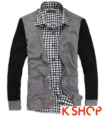 Áo khoác nam cardigan ấm áp dạo phố đông không lạnh
