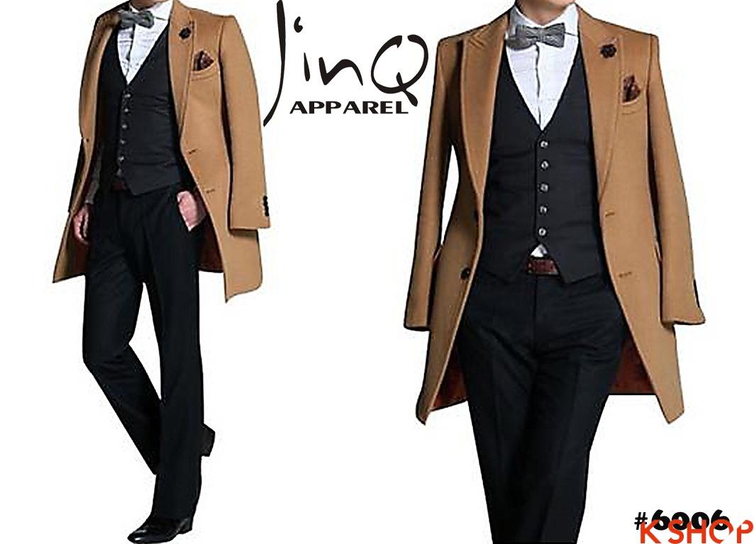 Áo khoác nam măng tô đẹp cho chàng ấm áp tới công sở 2018