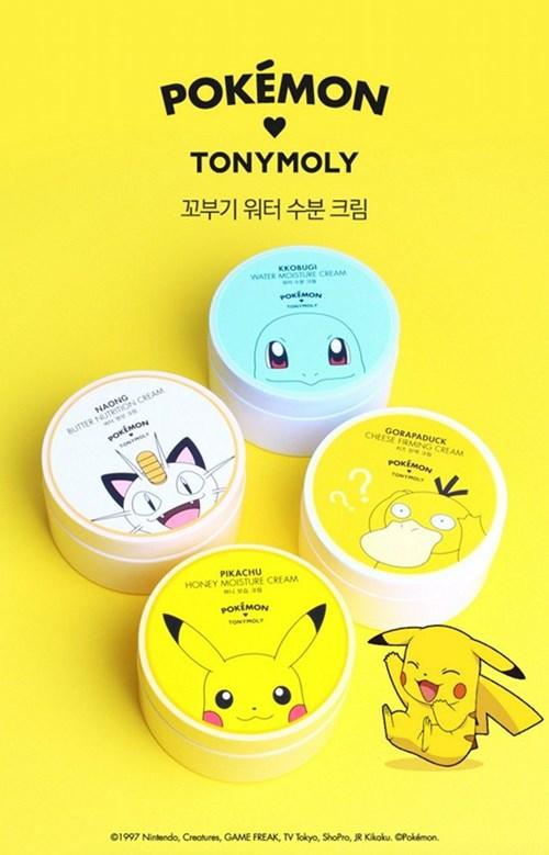 Tony moly tung bộ sản phẩm làm đẹp pokémon go cực đáng yêu