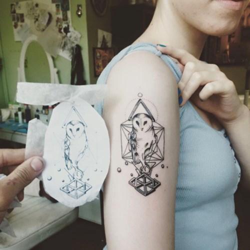 Gợi ý hình xăm chim cú tuyệt đẹp cho fan cuồng harry potter
