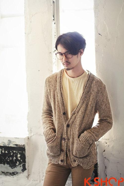 Áo khoác nam cardigan hàn quốc đẹp thu đông 2017 ấm áp không lạnh