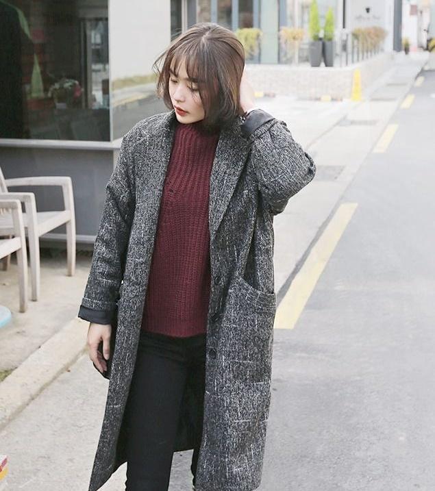 Áo khoác măng tô dạ nữ đẹp hàn quốc cho nàng sang trọng đông