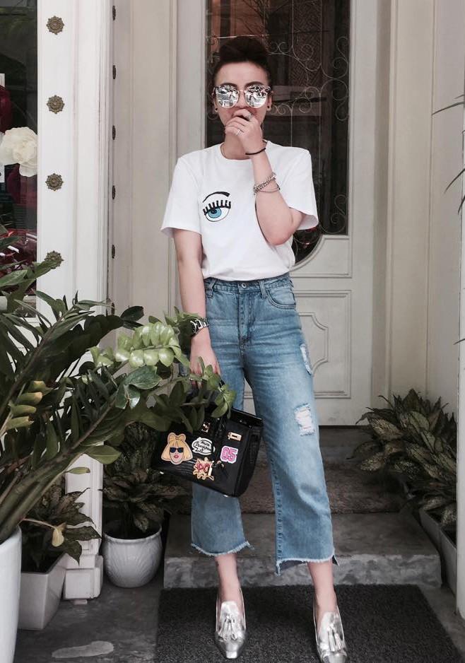 Mốt jeans xấu xí nhưng vẫn khiến nhiều sao việt thích mê