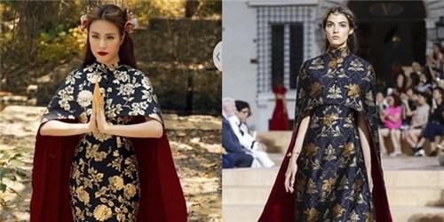 Váy của hoàng thùy thùy linh na ná hàng hiệu