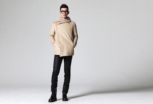 Áo khoác nam cổ lông đẹp hiện đại lôi cuốn phái nữ