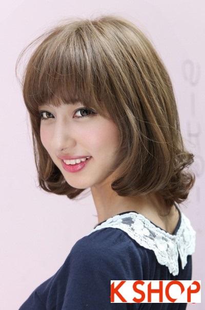 Kiểu tóc ngắn ngang vai uốn xoăn đẹp