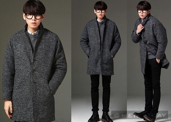 Mẫu áo khoác cardigan len nam dáng dài kiểu hàn quốc
